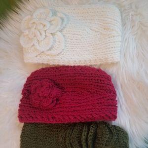 Handmade ear warmers.